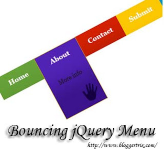 jQuery bouncing menu for blogger