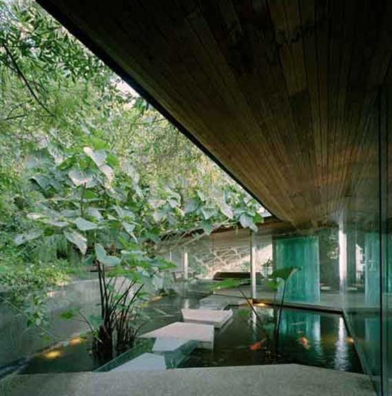 Glass wall home in the hollywood hills by john lautner architect minimalist home dezine Dezine house
