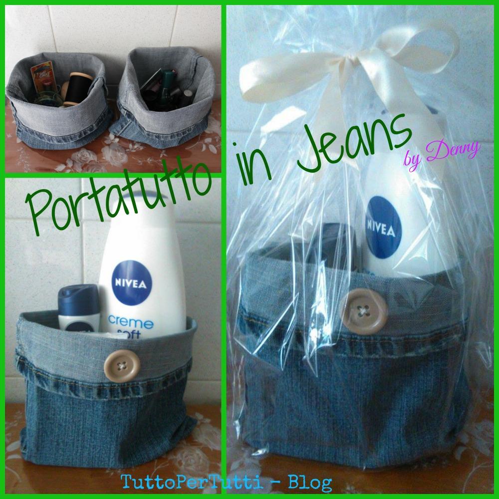 Tuttopertutti portatutto in jeans for Regalo oggetti vecchi