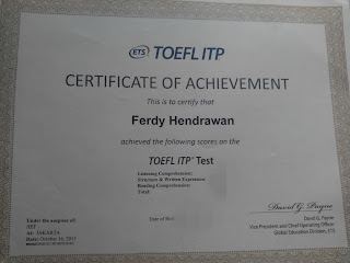 Sertifikat TOEFL ITP Universitas Brawijaya