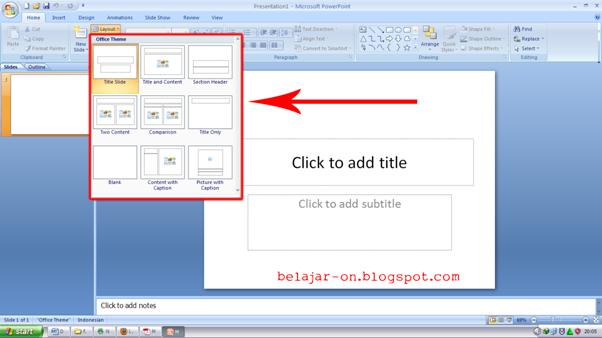 Microsoft Powerpoint Layout, Text Effects, New