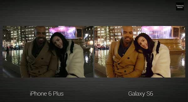 galaxy s6 vs iphone 6 plus camera\