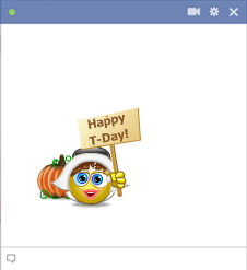 Happy T-Day - Thanksgiving emoticon