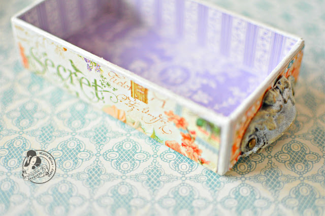 Graphic45 MaikoMiwa AlteredProject SecretGarden SmallMatchbookBox