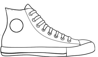 how to draw converse high tops