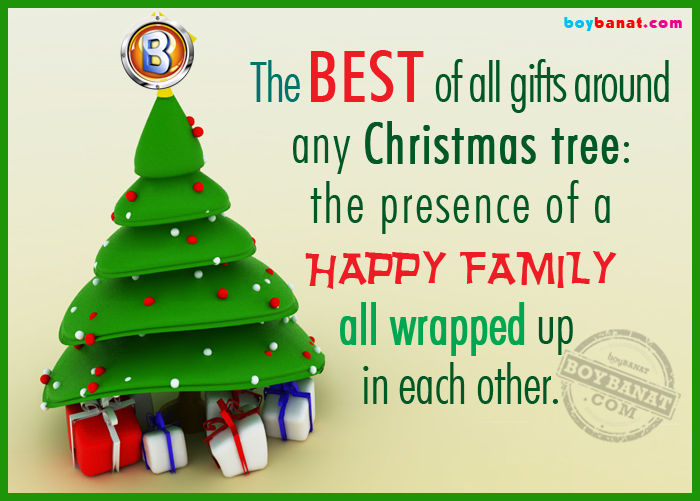 Christmas Quotes and Sayings ~ Boy Banat