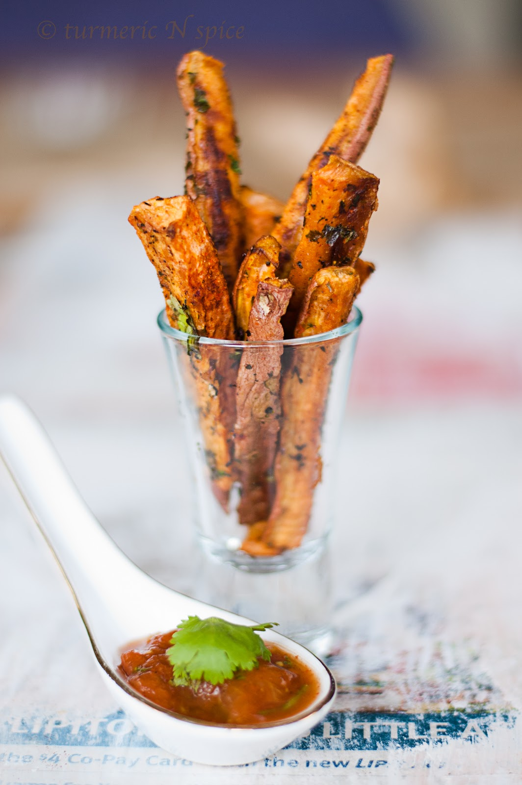 ... spice: Curried Sweet Potato Fries (baked) with a Tomato Curry Chutney