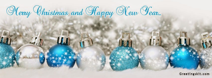 Merry Christmas Happy New Year 2015 Facebook Cover Images