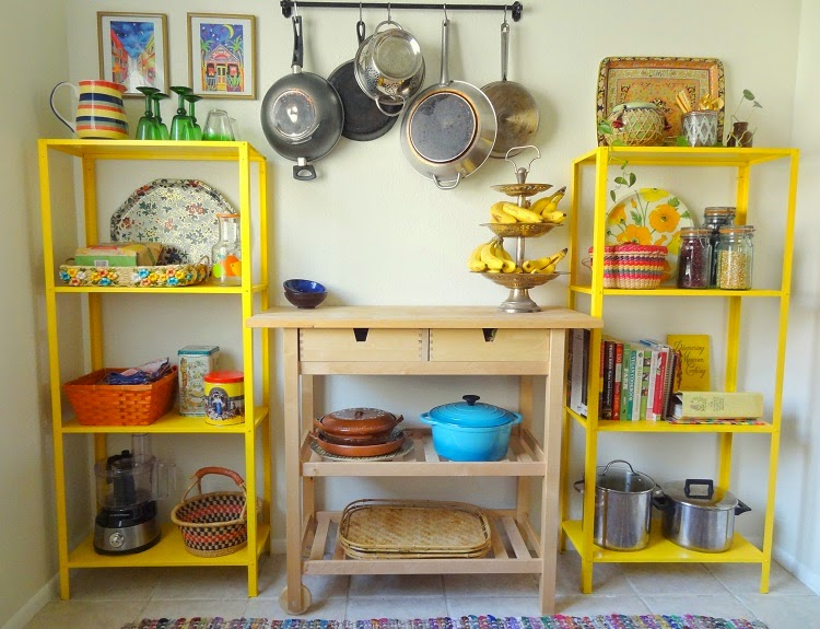 Yellow Shelves