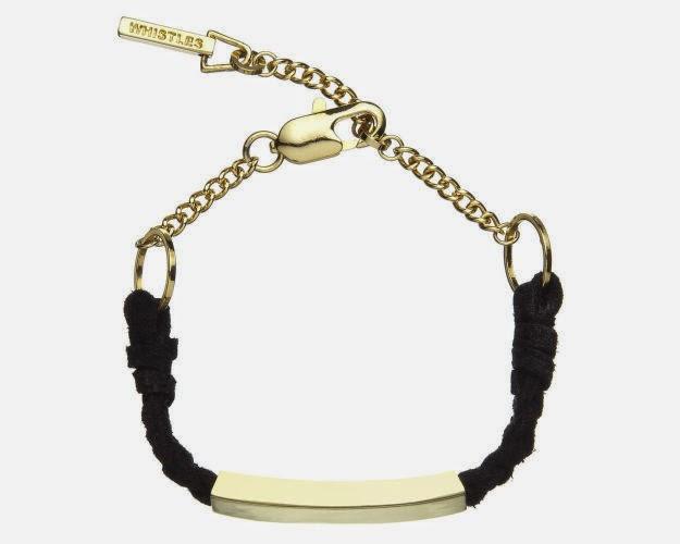 whistles black bracelet