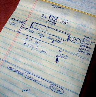 Original Twitter idea sketch by Dorsey in 2006 by www.maxginez3.com