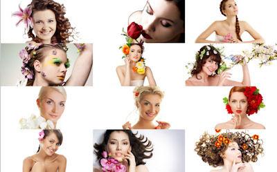 12 fotos de mujeres bonitas y peinados con flores HD