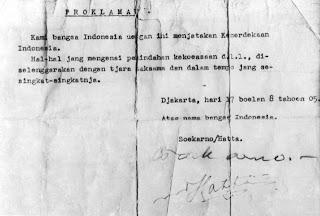 ISI TEKS PROKLAMASI KEMERDEKAAN INDONESIA