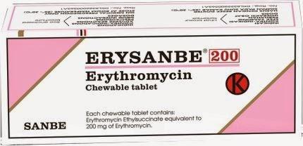 Dosis Obat ERYSANBE (Erythromycin / Eritromisin)