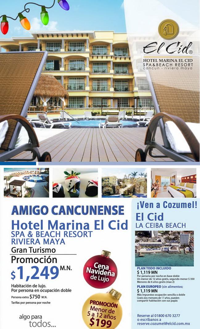 Hotel EL CID Puerto Morelos promocion