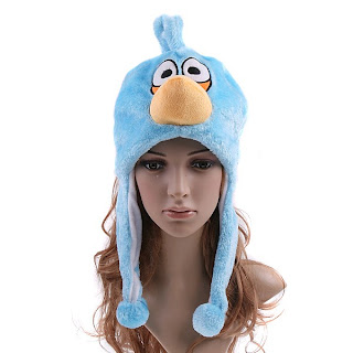 Blue angry birds hats