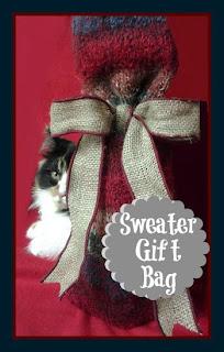Sweater Gift Bag at sewlicioushomedecor.com