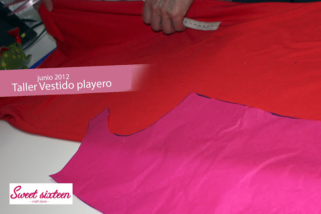 Taller Vestido Playero, Sweet sixteen craft store, Madrid.