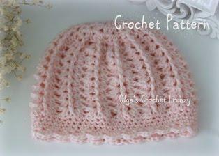 Baby Beanie Crochet Pattern, Size 3-6 Months, $1.85