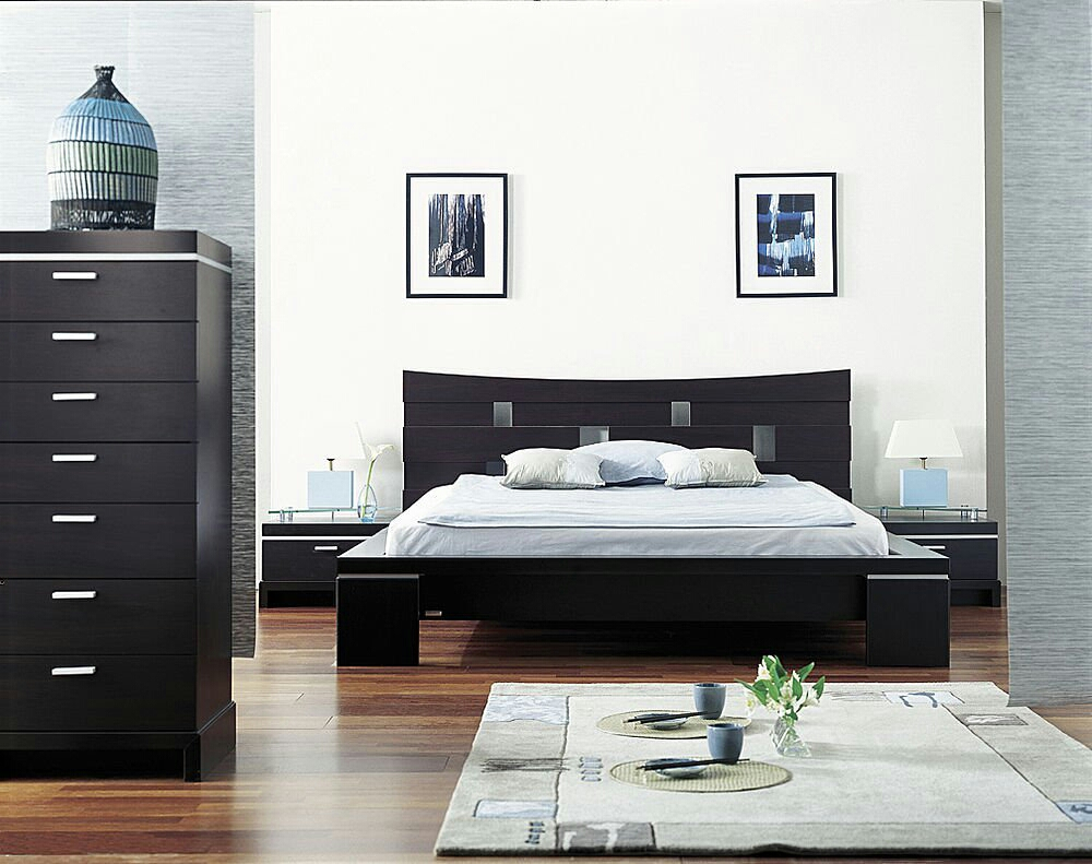 Modern furniture modern bedrooms bed designs for New furniture bedroom