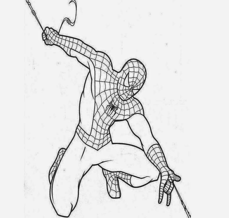 The Printable Spiderman Coloring Drawing Free wallpaper