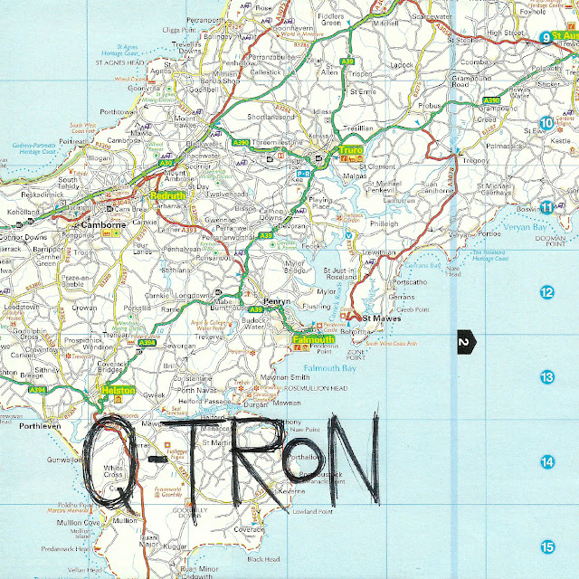 'Q-TRON - Cover Artwork' - by Major Gubbins & TONE.