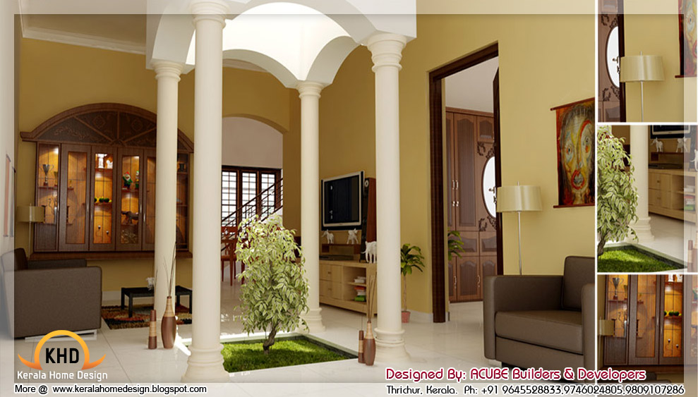 Beautiful home modifications house modifications 3d for Kerala homes interior designs