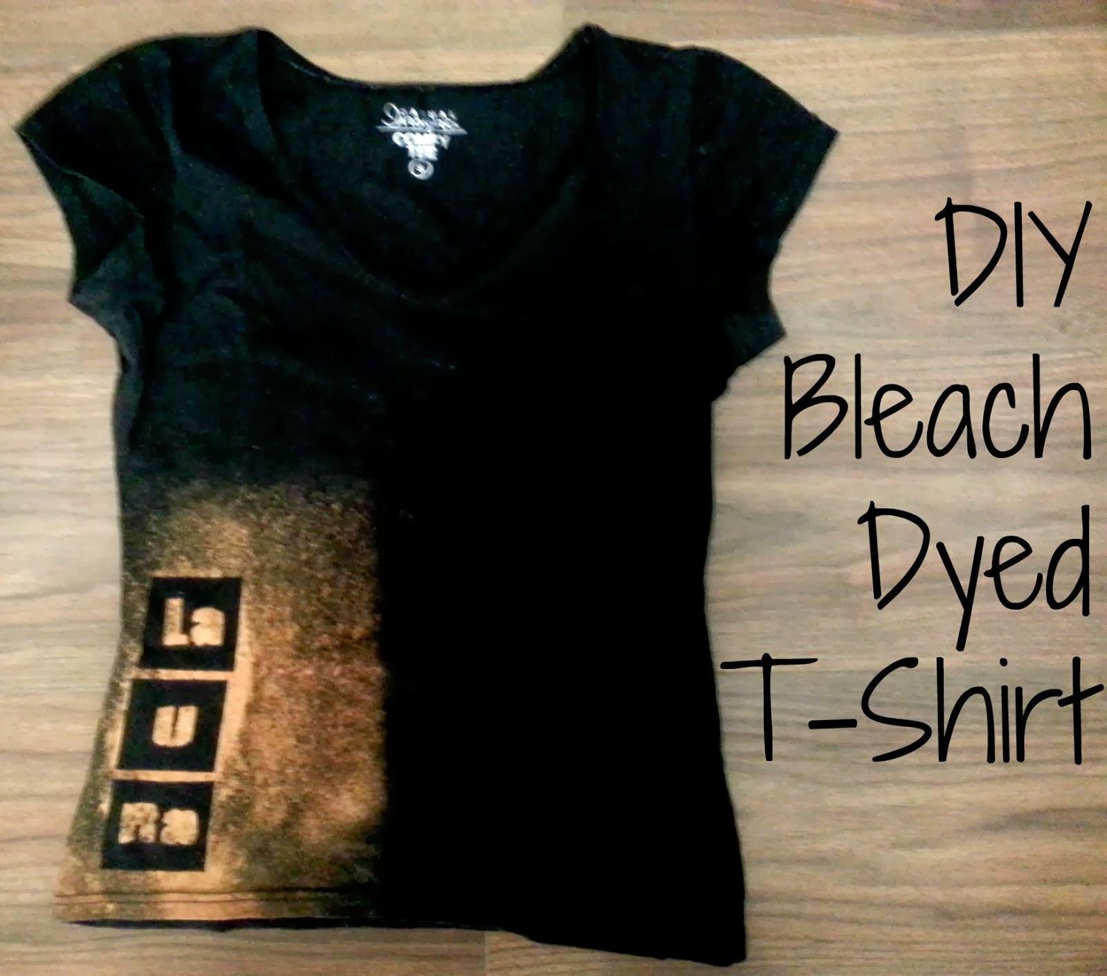 Whimsy is forever diy christmas gift custom bleach dyed for Diy custom t shirts