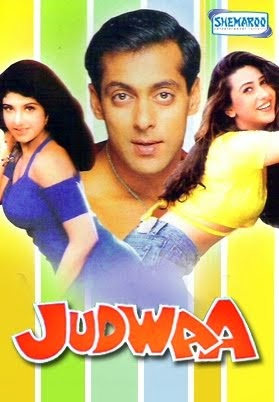 Poster Of Bollywood Movie Judwaa (1997) 300MB Compressed Small Size Pc Movie Free Download worldfree4u.com