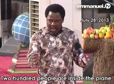 SEE How TB Joshua Predicted The Missing Malaysian Plane