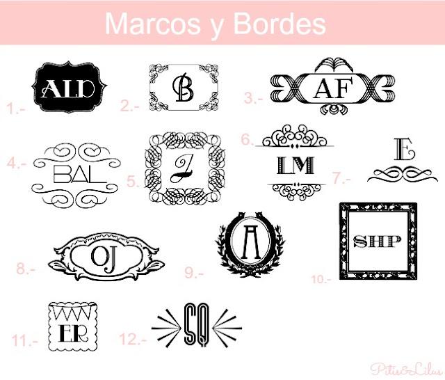 TIPOGRAFIAS, MARCOS Y BORDES PARA MONOGRAMAS:MARCOS Y BORDES