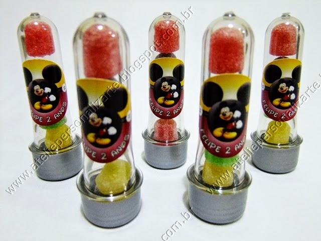 tubinhos de acrilico personalizados - lembrancinhas porto alegre