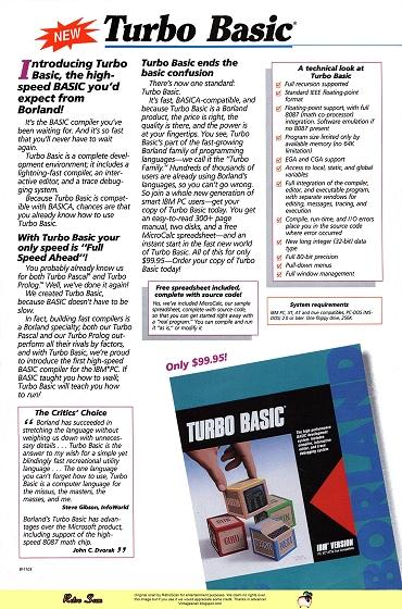 Borland Turbo Basic (1987)