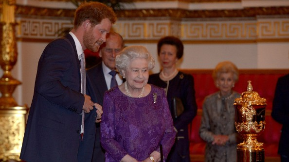 Queen Elizabeth, Duke of Edinburgh And Other British Royals At The Reception To Mark The Rugby World Cup 2015