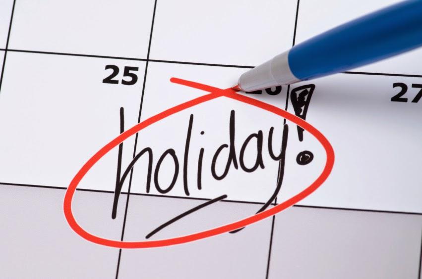 Holidays Off Work