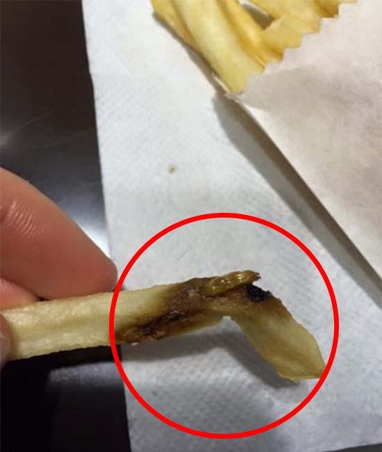 Wanita Temui Ulat Dalam Kentang McDonald's