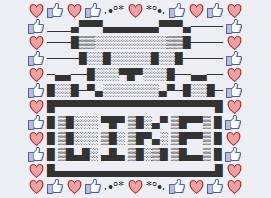 Facebook Teddy Bear Text Art