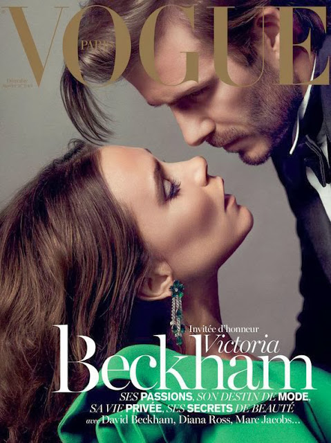 Victoria and David Beckham on the cover of Vogue Paris