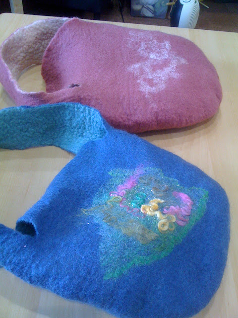 image of finished felt bags