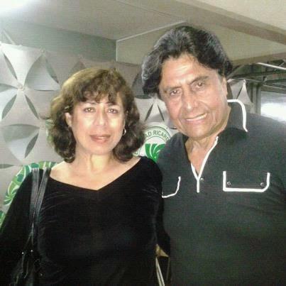 Con el actor Reinaldo Arenas