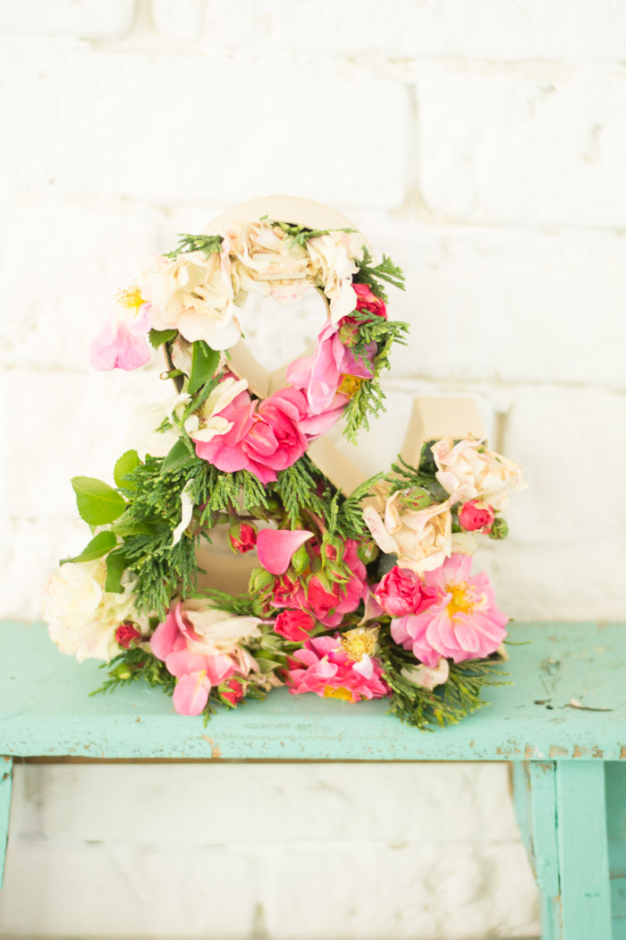 Letra flores diy