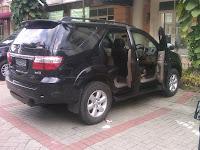 Pengambilan Pengecekan Toyota Fortuner B 1645 BJD ke Balikpapan