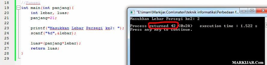 Perbedaan Fungsi dan Prosedur dalam C++, Perbedaan Fungsi dan Prosedur pada C++