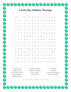 picture about Earth Day Word Search Printable named Entire world Working day Term Glance Printable