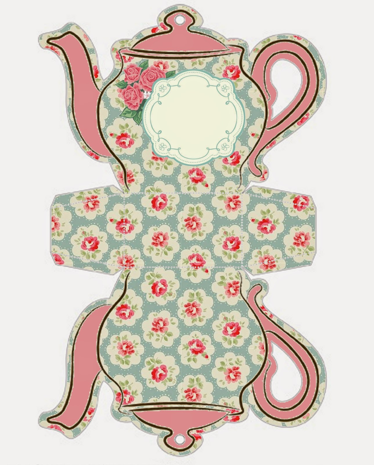 This is a photo of Amazing Teapot Template Printable