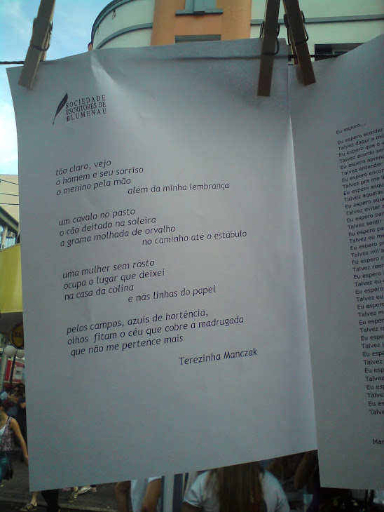 Varal de poemas em dia de Stammtisch