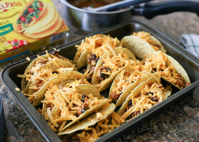 Red Chile Chicken and Black Bean Tacos - get the recipe at barefeetinthekitchen.com