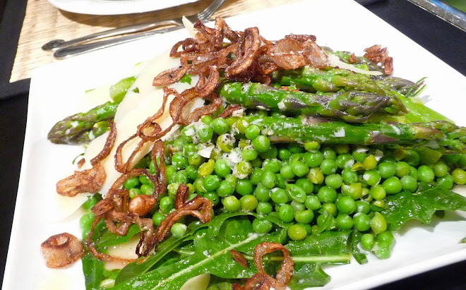 Fresh Asparagus & Green Pea Salad with Crispy Fried Shallots
