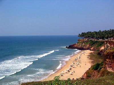 Varkala Beach or Papanasam Beach in Kerala India