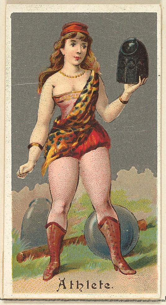 "Athlete. Vintage tobacco card ""Occupations For Women"", via ellomennopee"